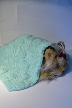 Green Handmade Knitted Baby Blanket Knit Blanket by IgalardStore