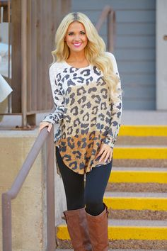 Color Block Animal Print Tunic | Closet Candy Boutique Use discount code REPAMBER for 10% off & free shipping!
