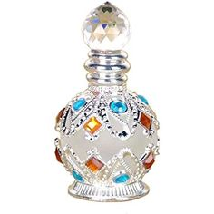 LONGWIN 10ml Vintage Crystal Perfume Bottles Empty Refillable
