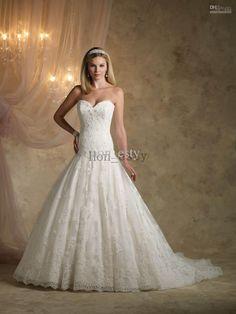 Wholesale Vintage A Line Wedding Dresses Lace Sweetheart Drop Waist Beads Pearls Applique Kathy Ireland Ki1313, Free shipping, $151.2-166.88/Piece | DHgate