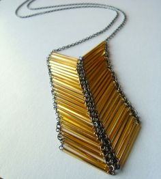 SALE Gold Chevron Necklace by girlsewcute on Etsy, $32.00