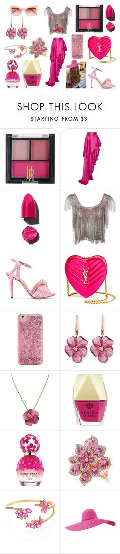 """""""Pretty in Pink"""" by holly32196-1 on Polyvore featuring Black Radiance, Michael Lo Sordo, Azzaro, Charlotte Olympia, Yves Saint Laurent, ban.do, Rina Limor, Kendra Scott, Marc Jacobs and Anne Sisteron"""