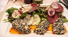 Salmon sesame salad. Avocado Egg, Eggs, Breakfast, Food, Salads, Breakfast Cafe, Egg, Essen, Yemek