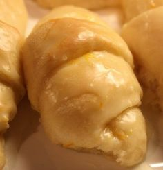 Orange Crescent Rolls.   My Mom use to make these for family dinners..  Everyone's favorite.  I sure miss her cooking.