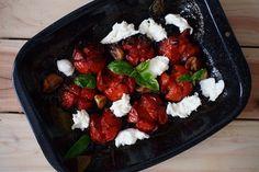 Laskominy od Maryny: Pečená rajčata s balsamikem a mozzarellou