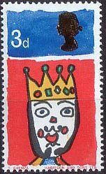 Christmas 3d Stamp (1966) King of the Orient