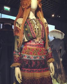 Inspiration for today. Gypsy Chic from Jean Paul Gaultier. (At the Grand Palais, Paris) #gypsystyle #jeanpaulgaultier