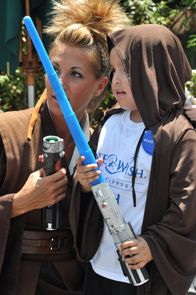 Dylan, 6, who has a life-threatening hereditary blood disorder, wished to go to STAR WARS weekend in Orlando.