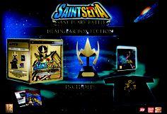 Saint Seiya Sanctuary Battle Headgear Edition. Esta edición de Caballeros del Zodiaco contiene un casco y una playera.