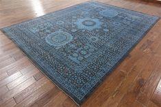 9 X 12 Overdyed Full Pile Wool Hand Knotted Mamluk Design Rug