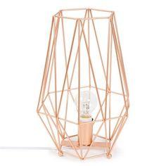 Lampe aus Metall, H 29cm, ORIGAMI COPPER