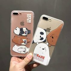 2017 New Hottest We Bare Bears Case for iPhone 7 7 plus 6 6s 6plus TPU+Plastic Back Case Funda Cover Free Shipping