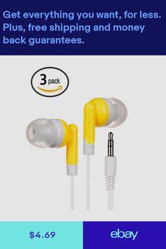 c1420efb550 Bulk In-Ear Earbuds Lot / Set Bulk Yellow Long Wire Earphones iPhone Samsung