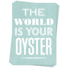 Your Oyster - Postcards | could easily be framed as artwork