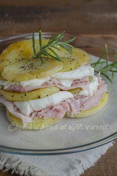 parmigiana fredda di patate con prosciutto e mozzarella ricetta secondo leggero e gustoso estate