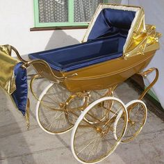 Over-the-top gift ideas for Kanye & Kim: A Silver Cross gold-plated pram ($7,912 )