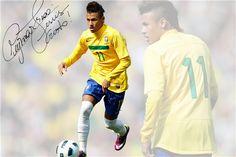 Custom Neymar Poster Neymar JR Posters Barcelona Wall Stickers Barca Soccer Ball Wallpapers Brazil Football Star Sticker #1965#