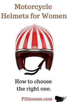 Women's motorcycle helmets: good advice Choosing women's motorcycle helmets can be a challenge. It helps to know what to look for – here's some advice. Womens Motorcycle Helmets, Cruiser Motorcycle, Bicycle Helmet, Motorcycle Girls, Honda Motorcycles, Vintage Motorcycles, Ducati Monster Custom, Good Advice, Motorbikes