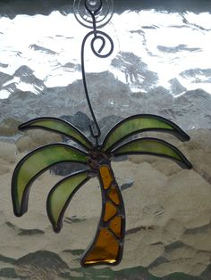 Stained Glass Palm Tree. $10.00, via Etsy.