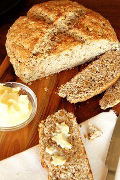 Irish Walnut Oatmeal Soda Bread