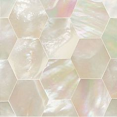 Daltile Mother of Pearl Honeycomb #Tiles pinned with #Bazaart - www.bazaart.me