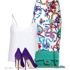 A fashion look from May 2015 featuring v-neck tops, high-waisted pencil skirts and pointed-toe pumps. Browse and shop related looks. Work Fashion, Fashion Looks, Fashion Outfits, Fashion Trends, Women's Fashion, Colour Combinations Fashion, Polyvore Outfits, Polyvore Fashion, Professional Outfits