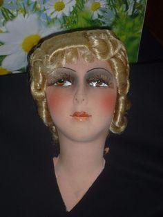 ancienne tete tissu pour poupée de salon in Jeux, jouets, figurines, Poupées, vêtements, access., Poupées anciennes | eBay