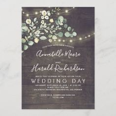 Country Wedding Invitations, Rehearsal Dinner Invitations, Engagement Party Invitations, Wedding Rehearsal, Invites, Country Birthday Party, Wedding Place Cards, Wedding Paper, Rustic Wedding