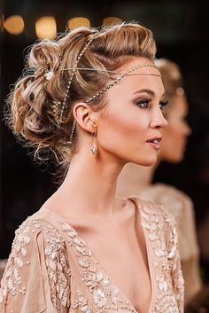 18 Greek Wedding Hairstyles For The Divine Brides❤Luxury, bohemian greek hairstyles for brides who want to be notably beautiful on wedding day.See more: http://www.weddingforward.com/greek-wedding-hairstyles/ ‎#weddings #hairstyles