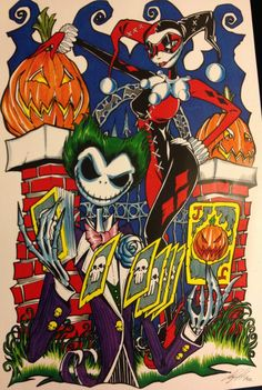Harley and The Joker/ Jack and Sally