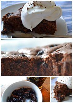 Čokoládový koláč se sušenými švestkami <3