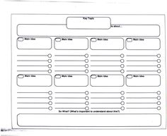 research paper graphic organizer - Google Search