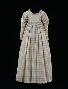 Dress    Place of origin:  Britain, United Kingdom (made)    Date:  ca. 1814 (made)    Artist/Maker:  unknown (production)    Materials and Techniques:  Printed cotton    Credit Line:  Given by Messrs Harrods Ltd    Museum number:  T.674-1913    Gallery location:  In Storage