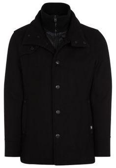 56a2e7245728 TIN - Płaszcz wełniany  Płaszcz klasyczny - czarny. Zalando Shop
