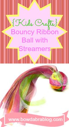 Bouncy Ribbon Ball with Streamers