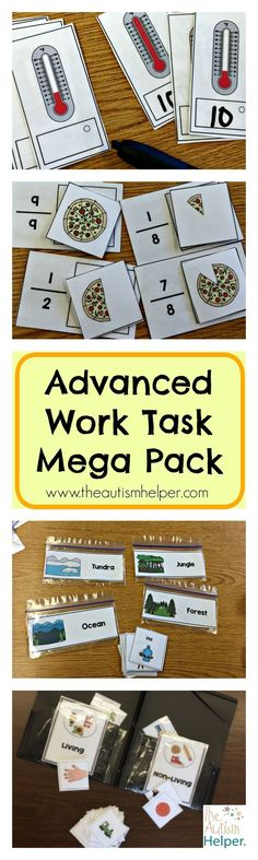 Work Tasks for Children with Autism!