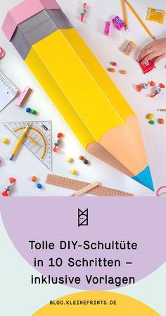 Schultüte selber basteln - hier präsentieren wir Euch eine tolle Anleitung für eine Stiftschultüte!  #schultüte #diy #einschulung #schultütebasteln