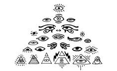 all-seeing-eyes http://arsenal.gomedia.us/shop/vectors/occult-symbols-esoteric-designs/