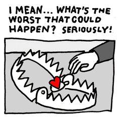"Regram @el.bebbe.grande: ""For all the lonely valentines today 😭#illustration #klassethomas #comics #design #graphicdesign #cartoons #love #valentinstag #valentineday #valentine #heart #trap #relationshipgoals #editorialillustration #editorial #drawing #ink #liebe #sad #brutsubmission"""