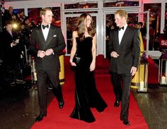 Prince William, Kate and Prince Harry arrive at the Imperial War Museum, all dressed in their black-tie best. via StyleList