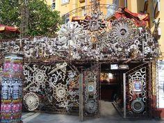 Cross Club, Prague. Unintentional steampunk bar!