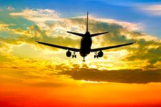 Flying off into the sunset. Where are you flying to this year? #honeymoon #travel #airplane #trip