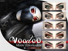 The Sims Resource: Voodoo - Matte Eyeshadow  N22 by Pralinesims • Sims 4 Downloads