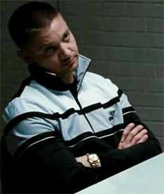 """stormxpadme: """"  Jeremy Renner role appreciation - captured in gifs The Town - Jem's life hack no 1: don't give shit """""""