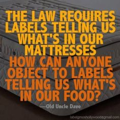 #NoGMO. #BernieSanders supports labeling of our food.