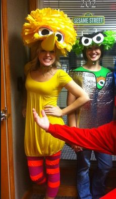 big bird and oscar the grouch costumes.