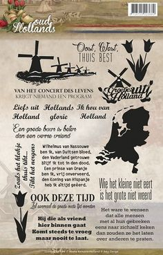 Clearstamp - Amy Design - Oud Hollands - Tekst