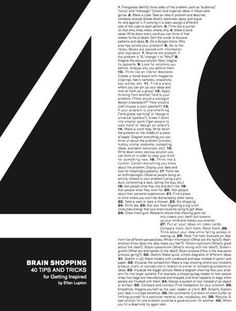 Ellen Lupton's 40 Tips and Tricks by Sarah Leugemors, via Behance