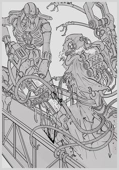 2edit imperium mechanicus necron ning sketch techpriest