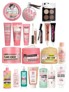 """Soap and glory products"" by laurengriffin03 ❤ liked on Polyvore featuring beauty and Soap & Glory"